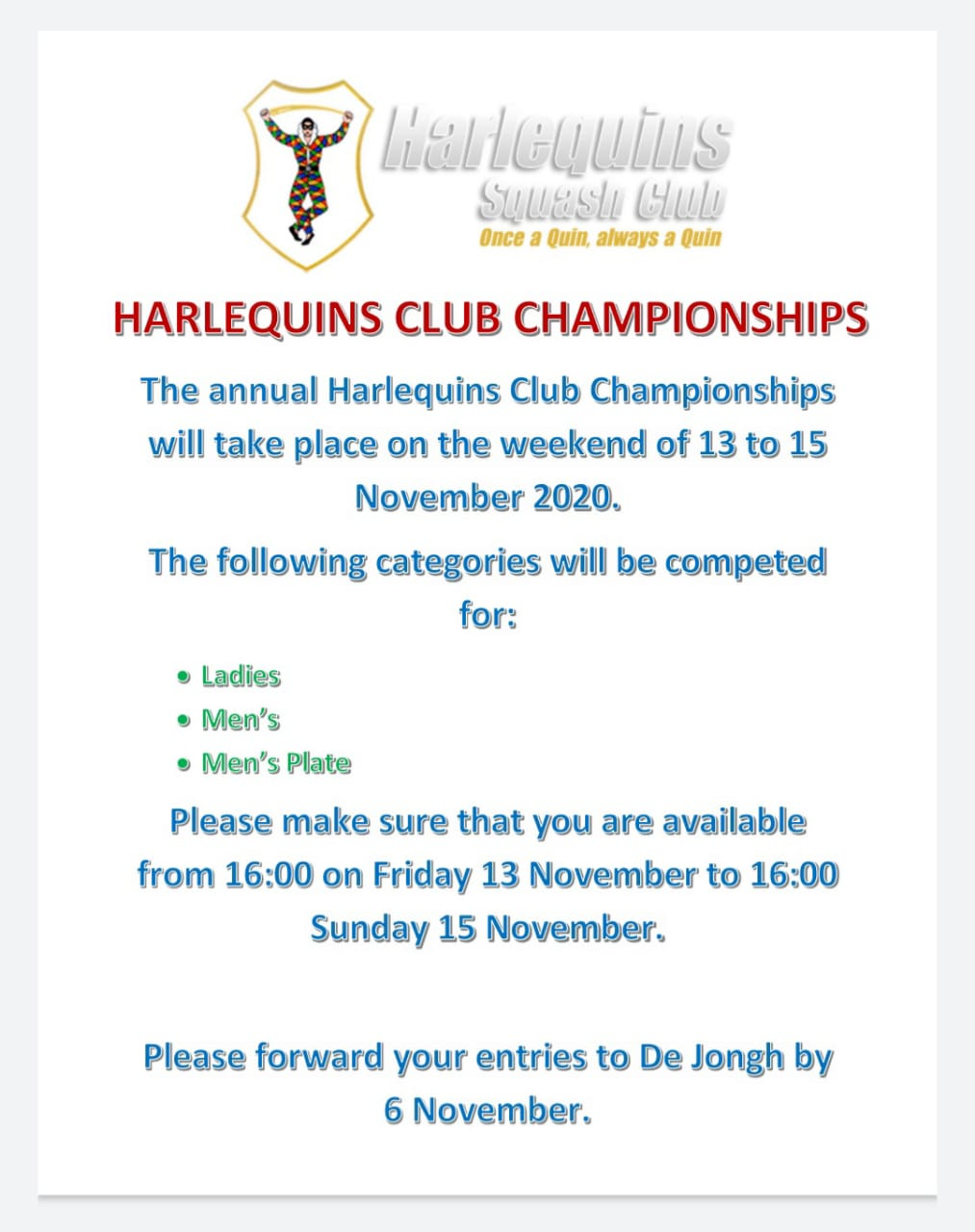 Club Champs Flyer